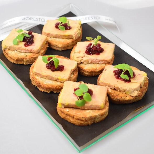 Plateau de 6 Toasts briochés au Foie Gras