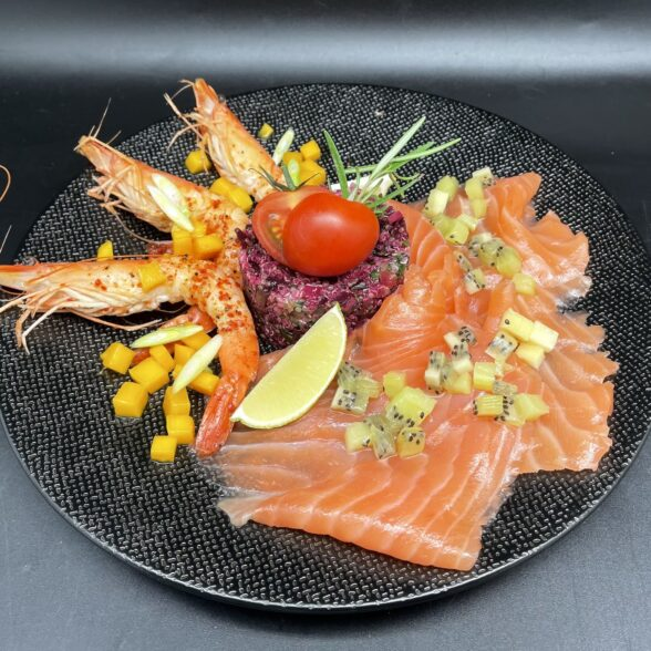Salade sucrée-salée de la mer